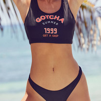 Gotcha For UO Puff Paint Bikini Bottom | Urban Outfitters