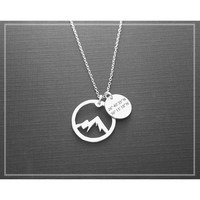 Coordinate Mountain Necklace