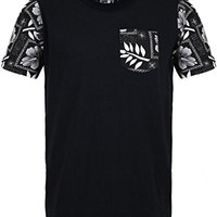 "URBAN ICON MEN'S COTTON T-SHIRT WITH SILK SCREEN PRINT ""DOPE PRINTS"""