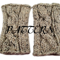 Cable Knit Boot Buffer Pattern - Leg Warmers Knit Pattern - Knitting Pattern Boot Cuff - Lion Brand Wool Ease Thick & Quick - Download