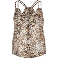 FULL TILT Animal Chiffon Womens Top 197560149 | Tanks & Camis | Tillys.com
