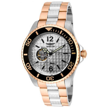 Invicta 15596 Men's Pro Diver Two Tone Bracelet Silver Dial Automatic Dive Watch
