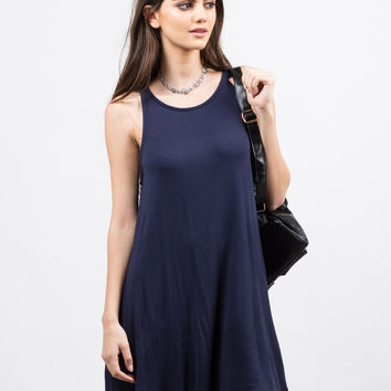 Open Back Tank Dress - Small