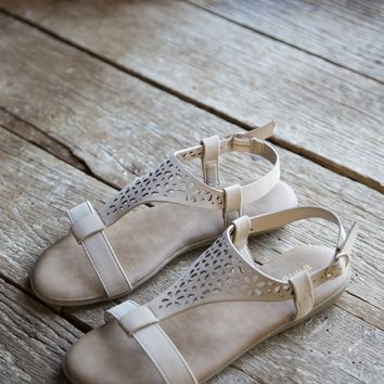 Tamber Lace Sandal, Nude