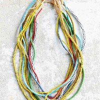 Urban Renewal Recycled Ten Strand Seed Bead Necklace- Assorted One