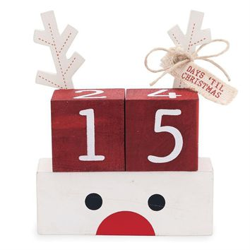 Reindeer Countdown Blocks