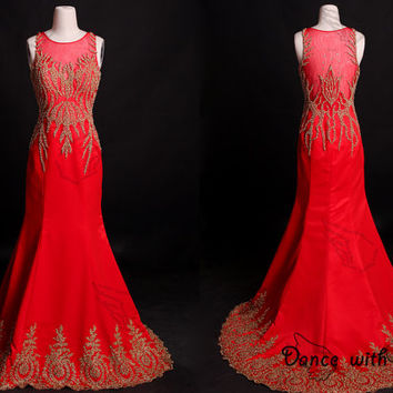 Red Embroidery rhinestones beading prom dresses,prom dress,long prom dress,bridesmaid dresses,evening dresses,bridesmaid dress,evening dress