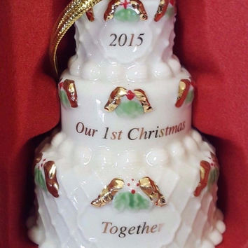 Our first Christmas Cake ornament by Lenox 2015 Annual