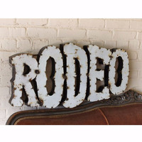RODEO METAL WALL ART