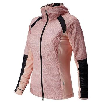 DCCK8NT new balance performance jacket women s luxe pink