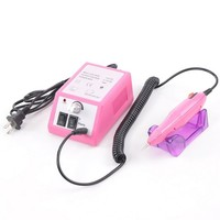 Complete Professional Finger Toe Nail Care Electric Nail Drill Machine Manicure Pedicure Kit Electric Nail Art File Drill w/ Pink Machine Set(H3)