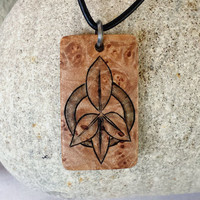 Hippie Jewelry Peace Sign Necklace, Wood Art, Peace Sign Jewelry, Peace Sign Art