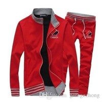 sweater   winter influx of men s sports suit embroidered collar coat tide male  s Clothing  s Sets