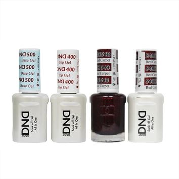 DND - Base, Top, Gel & Lacquer Combo - Red Carpet - #548