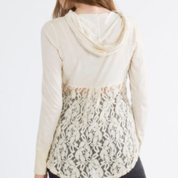 Hoodie with Lace Back