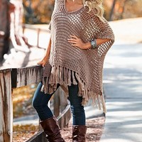 Crochet fringe tunic, seamless cami from VENUS