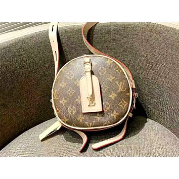 LV 2019 new female round cake portable messenger bag