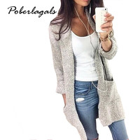 Long Sleeve loose knitting cardigan sweater
