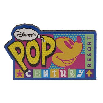Disney Parks Pop Century Wood Magnet New