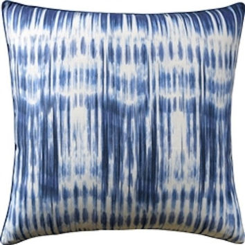 Ikat Stripe Navy Pillow