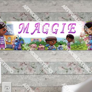 Personalized/Customized Doc McStuffins #2 Poster, Border Mat and Frame Options Banner 162-2