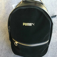 PUMA Ffashion New Print Leather Backpack Bag Women Black