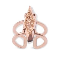 Kendra Scott: Boyd Cocktail Ring In Rose Gold Drusy