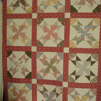 Country Windmills Twin Lap Quilt Throw