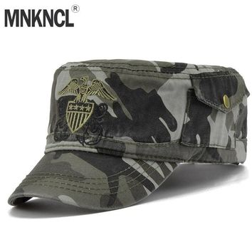 Trendy Winter Jacket MNKNCL 2018 New Camouflage Hats For Men Navy Cap Angel embroidery Hats Army Outdoor Baseball Cap Snapback Hip Hop Men AT_92_12