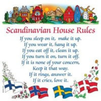 Swedish Gift Wall Tile: Scandinavian House Rules