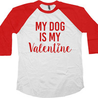 Valentines Shirt Dog Lover T Shirt Love TShirt Valentines Gift Ideas For Her Valentines Outfit Heart V Day Baseball Raglan Tee - SA1026