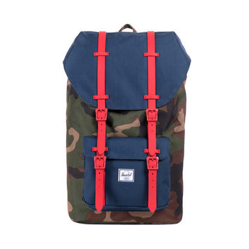 Herschel Supply Co. Little America Woodland Camo/Navy Red Rubber