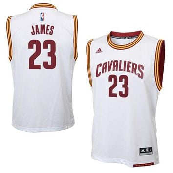 Youth Cleveland Cavaliers LeBron James adidas White Replica Home Jersey