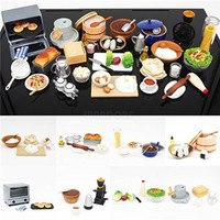 ORCARA Food Miniature Dollhouse Cooking With The Master Toy Figure Gift Set of 8