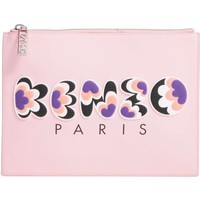KENZO Rubber Logo Leather Pouch   Nordstrom