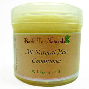 All natural Deep Conditioner -Lemongrass Hair Conditioner - Vegan Hair Moisturizer - Whipped Shea Body Butter - Natural Hair Treatment