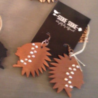 Camp Chippewa (brown) Earrings-Sookie Sookie
