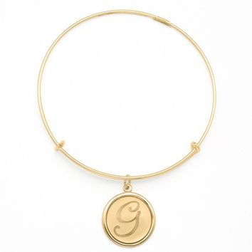 Alex and Ani Precious Initial G Charm Bangle - 14kt Gold Filled