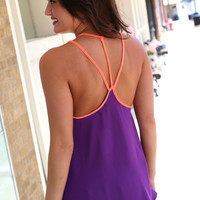 Hot Coral + Purple {Tank}