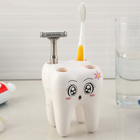 Cartoon Toothbrush Holder,Teeth Style 4 Hole Stand Tooth Brush Shelf Bathroom Accessories Sets,Bracket Container For Bathroom