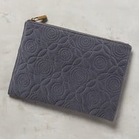 Velvet Jardin Pouch by Anthropologie in Grey Size: One Size Clutches