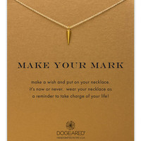 Dogeared Make Your Mark Reminder Necklace