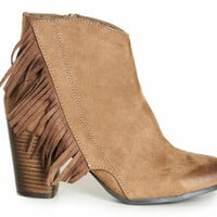 Karolina Fringe Booties-FINAL SALE