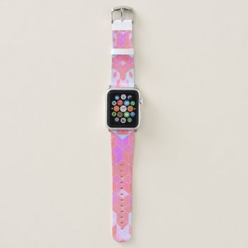 Electric Pink Cubes Graphic Design Apple Watch Band