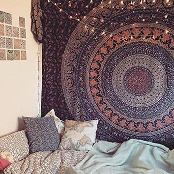 Lovely Bohemian Mandala Tapestry Wall Decor