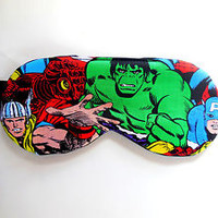 Incredible Hulk Sleep Mask Eye Shade Boy Kid Man Cover Marvel Avengers Blindfold