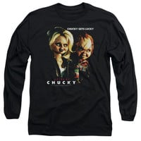 BRIDE OF CHUCKY/CHUCKY GETS LUCKY - L/S ADULT 18/1 - BLACK - MD - BLACK -