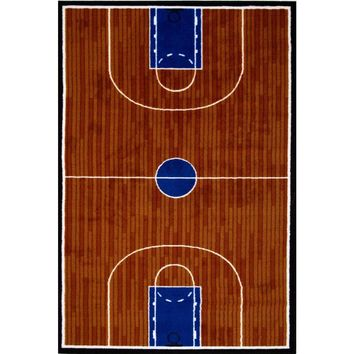 LA Rug Fun Time Basketball Court Multi Colored 19 in. x 29 in. Area Rug-GI 10 1929 - The Home Depot