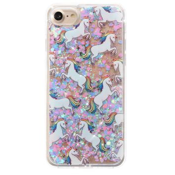 Unicorn Dual Glitter iPhone Case