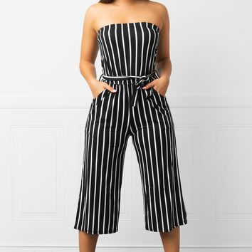 Julie Striped Jumpsuit